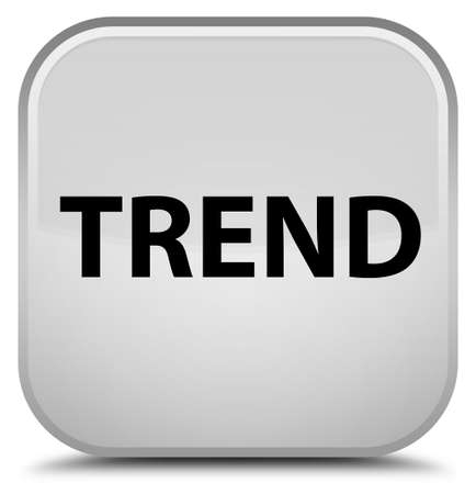 Trend isolated on special white square button abstract illustration