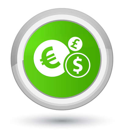 Finances icon isolated on prime soft green round button abstract illustration Stock Photo