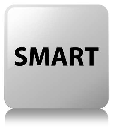 Smart isolated on white square button reflected abstract illustration Imagens