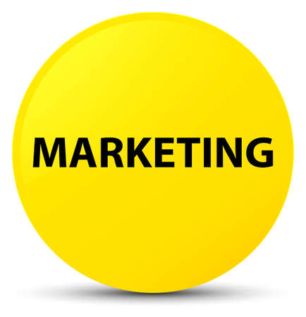 Marketing isolated on yellow round button abstract illustration