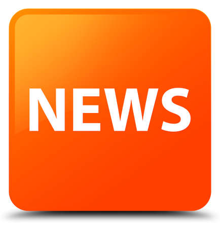 News isolated on orange square button abstract illustration