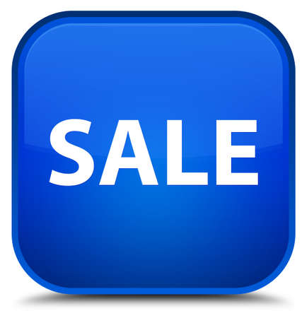 Sale isolated on special blue square button abstract illustration
