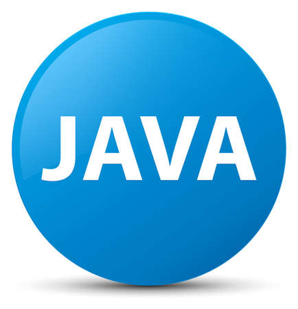 Java isolated on cyan blue round button abstract illustration