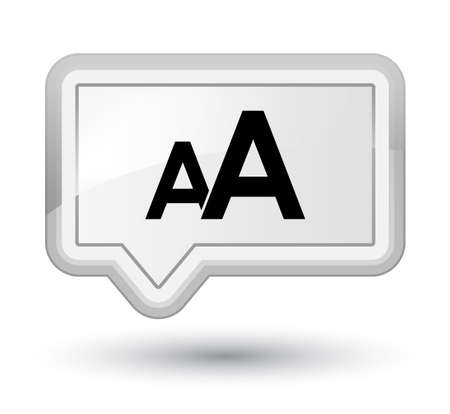 Font size icon isolated on prime white banner button abstract illustration Stock Photo