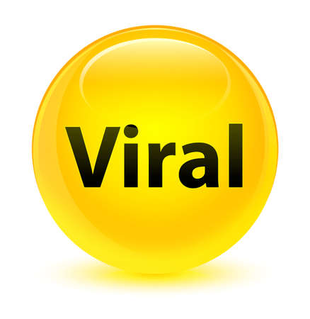 Viral isolated on glassy yellow round button abstract illustration