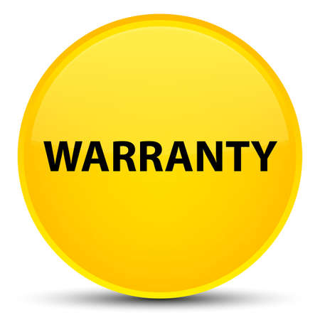 Warranty isolated on special yellow round button abstract illustration