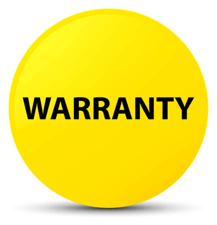 Warranty isolated on yellow round button abstract illustration