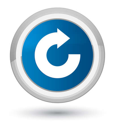 Reply arrow icon isolated on prime blue round button abstract illustration