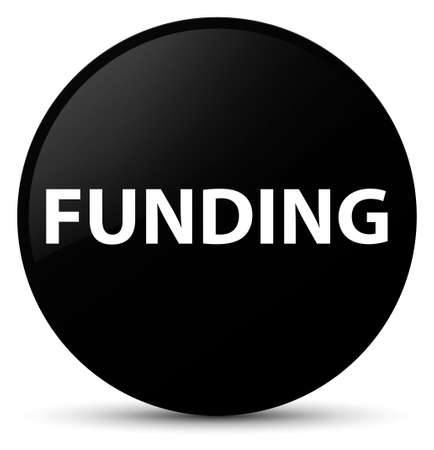 Funding isolated on black round button abstract illustration