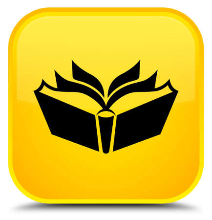 Translation icon isolated on special yellow square button abstract illustration