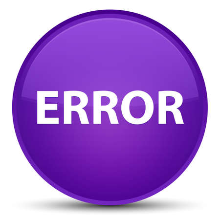 Error isolated on special purple round button abstract illustration