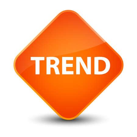 Trend isolated on elegant orange diamond button abstract illustration