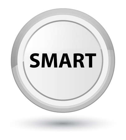 Smart isolated on prime white round button abstract illustration Imagens - 89933332