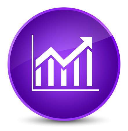 Statistics icon isolated on elegant purple round button abstract illustration