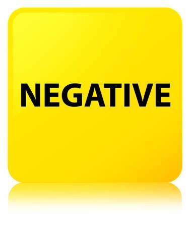 Negativo aislado en el botón cuadrado amarillo refleja la ilustración abstracta Foto de archivo - 89931992