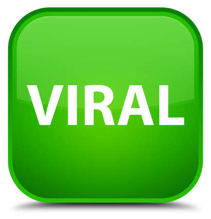 Viral isolated on special green square button abstract illustration