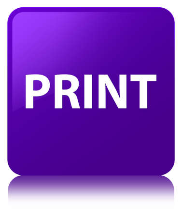 Print isolated on purple square button reflected abstract illustration