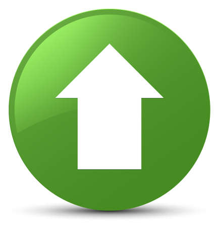 Upload arrow icon isolated on soft green round button abstract illustration