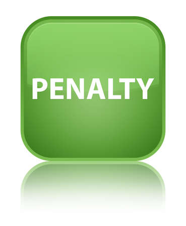 Penalty isolated on special soft green square button reflected abstract illustration