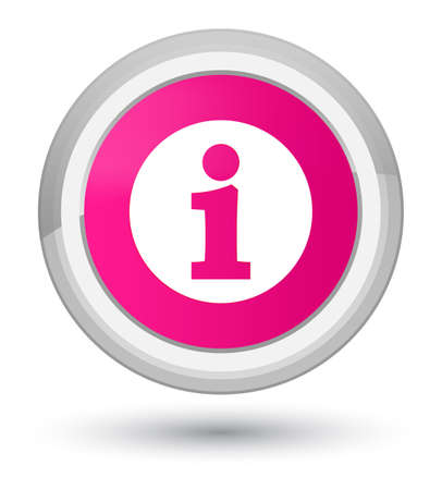 Info icon isolated on prime pink round button abstract illustration