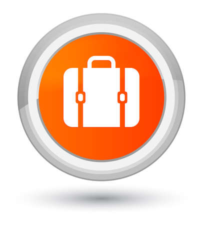 prime: Bag icon isolated on prime orange round button abstract illustration