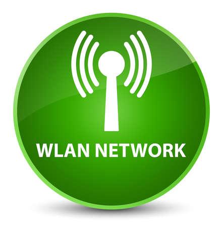 Réseau Wlan isolé sur l'illustration abstraite de bouton rond vert élégant Banque d'images - 89853359