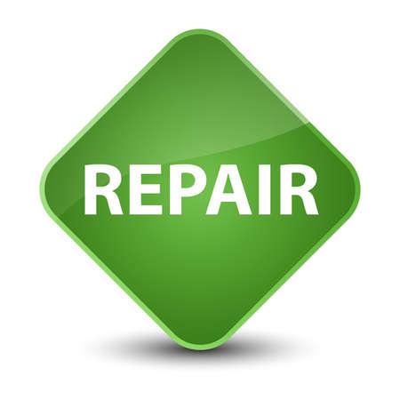 Repair isolated on elegant soft green diamond button abstract illustration Stock Photo