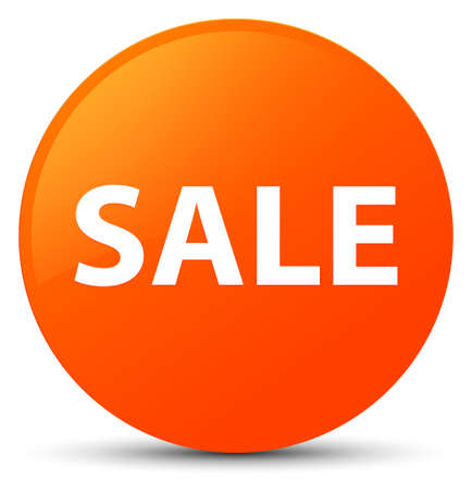 Sale isolated on orange round button abstract illustration