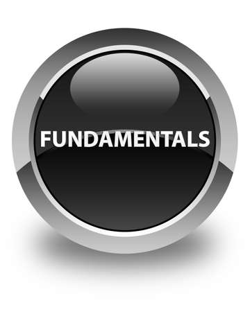 Fundamentals isolated on glossy black round button abstract illustration