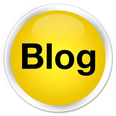 Blog isolated on premium yellow round button abstract illustration