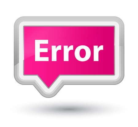 Error isolated on prime pink banner button abstract illustration
