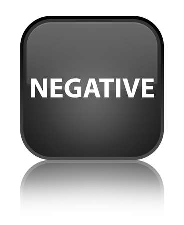 Negative isolated on special black square button reflected abstract illustration Stock Photo
