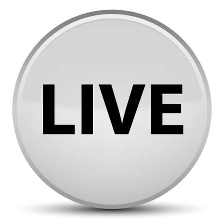 Live isolated on special white round button abstract illustration