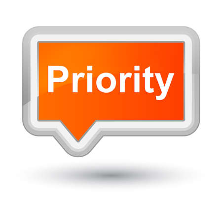 Priority isolated on prime orange banner button abstract illustration