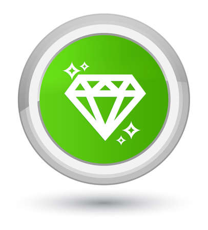 Diamond icon isolated on prime soft green round button abstract illustration