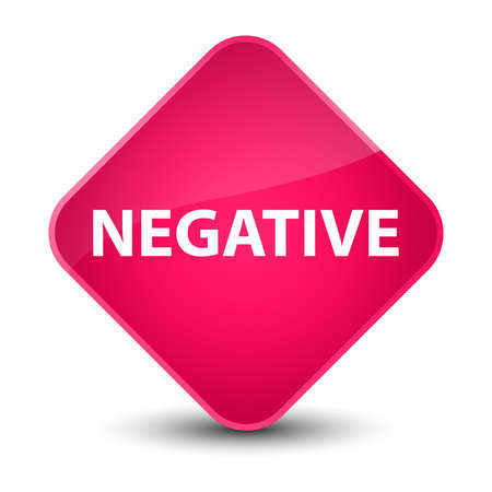 Negative isolated on elegant pink diamond button abstract illustration