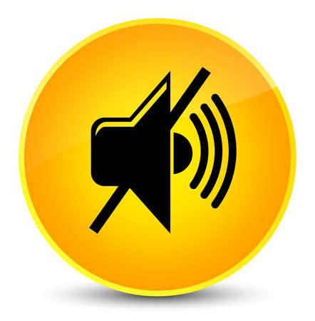 no symbol: Mute volume icon isolated on elegant yellow round button abstract illustration Stock Photo