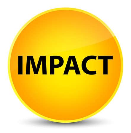 Impact isolated on elegant yellow round button abstract illustration Stock Photo