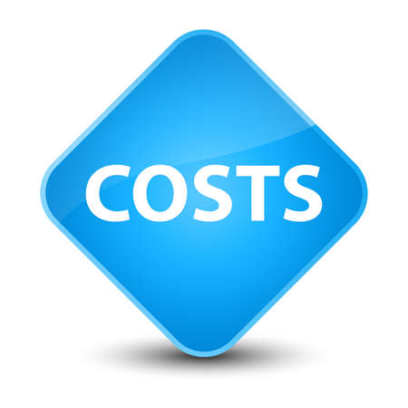 Costs isolated on elegant cyan blue diamond button abstract illustration Stock Photo