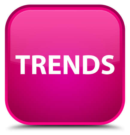 Trends isolated on special pink square button abstract illustration Stock Photo