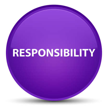 Responsibility isolated on special purple round button abstract illustration Stock Photo
