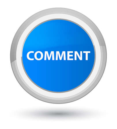 Comment isolated on prime cyan blue round button abstract illustration