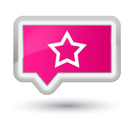 Star icon isolated on prime pink banner button abstract illustration Stock Photo