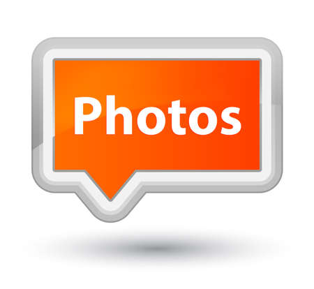 プライム オレンジ バナー ボタン抽象的なイラストに分離された写真 写真素材