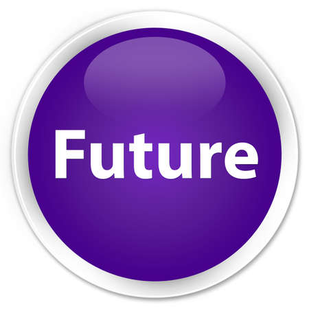 Future isolated on premium purple round button abstract illustration