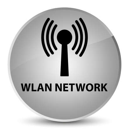 Wlan network isolated on elegant white round button abstract illustration