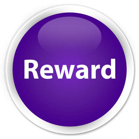 Reward isolated on premium purple round button abstract illustration