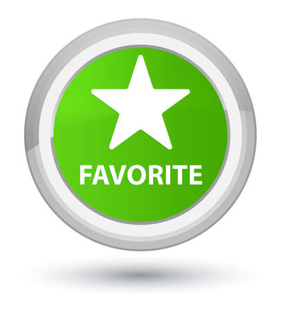 Favorite (star icon) isolated on prime soft green round button abstract illustration Stock Photo