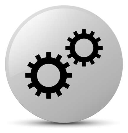 Process icon isolated on white round button abstract illustration