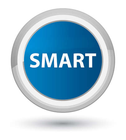Smart isolated on prime blue round button abstract illustration Imagens - 89816701